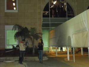 Diala Odeh pictures while leaving Star Academy and LBC building 6