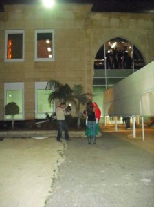 Diala Odeh pictures while leaving Star Academy and LBC building 8