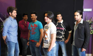 backstage pictures of the LBC Star Academy students Zaher, Yahia, Ibrahim, Abdel Aziz, Mohamed Bash and Michel Azzi at the 12th prime on May 8th 2009