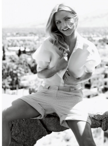 Cameron Diaz cover girl photo shoots of VOGUE Magazine June 2009 issue 2
