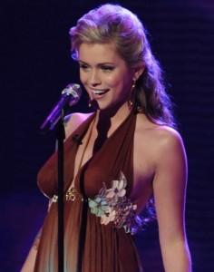 Megan Joy Corkrey singing on AMERICAN IDOL on March 17th 2009