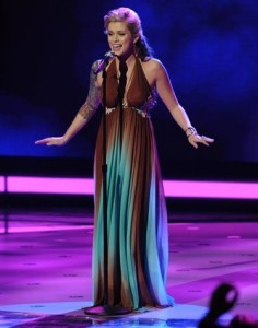Megan Joy performs on AMERICAN IDOL on March 17th 2009