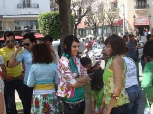 Pictures of Iness Aswad from Tunis after the academy tv advertising
