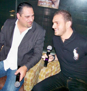 Pictures of Nazem Ezzideen after he left the academy 6 during his visit to Amman Jordan