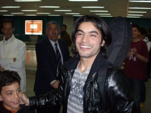 Pictures of Zaher Zorgatti from Tunis after leaving the academy and landed at the airport