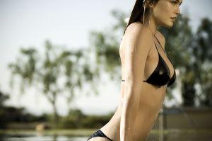 Bar Refaeli black Bikini photoshoots 9