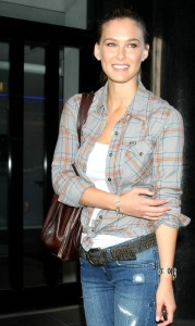 Bar Refaeli spotted arriving to New York City on April 28th 2009 to Promote the new Hurley Little Black Bikini 3