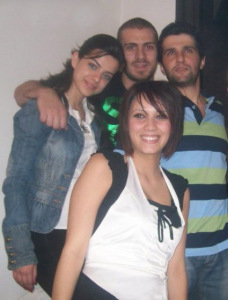 picture of Ines Aswad from Tunis with Michel Rmeih, Nazem Ezzideen and his girlfriend.