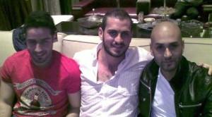 Nazem Ezzideen and Saad Ramadan from Lebanon with Massari