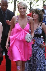 Carrie Underwood arrives at the American Idol Season 8 Grand Finale held at Nokia Theatre L.A. Live on May 20, 2009 in Los Angeles, California