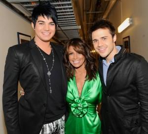 desktop wallpaper photo of Adam Lambert, Kris Allen, and Paula Abdul backstage of American Idol season8 on May 19th 2009