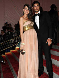 Jesus Luz with Michelle Alves at the gala ball in the Metropolitan Museum of Art in New York on may 5th 2009