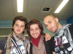 Mohamed Qwaider with Nader Qerat and Nees
