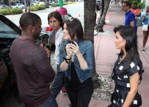 kim kardashian spotted in Miami on May 18th 2009 with her boyfriend Reggie and sister Khloe Kardashian