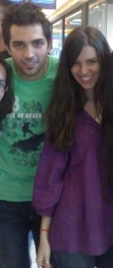 Lara Scandar and Mohamed Bash hanging out in Cairo on Tuesday June 9th 2009 1