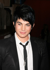 Adam Lambert candids wearing a slim dark denim pants with a white shirt under a black semi formal jacket at Regis and Kelly in New York city on May 27th 2009 11