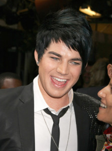 Adam Lambert candids wearing a slim dark denim pants with a white shirt under a black semi formal jacket at Regis and Kelly in New York city on May 27th 2009 4