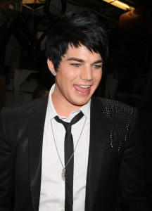 Adam Lambert candids wearing a slim dark denim pants with a white shirt under a black semi formal jacket at Regis and Kelly in New York city on May 27th 2009 8