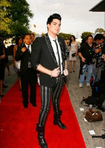 desktop wallpapers of Adam Lambert arrival at the Hollywood Life 11th Annual Young Hollywood Awards on June 9th 2009 3