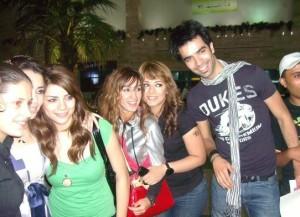 Diala Ouda with egyptian students Mohamed Serag Aya Abdel Rahman from season6 and Maison and Shahinaz from Lbc Star Academy season5