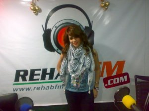 Diala Ouda photos from Rehab fm interview at the radio station 4