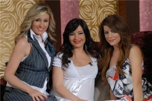 Diala Ouda pictures from her latest TV interview in May 2009 with the hostesses of the show