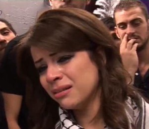 Diala Ouda crying after she was voted off star academy