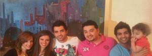 Mohamed bash with Basma Bousil Ibrahim Dashti and Lara Scandar during their trip togther to Kuwait