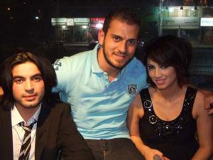 picture of Nazem Ezzeddine with Ines Lasswad and Zaher Zorgatti