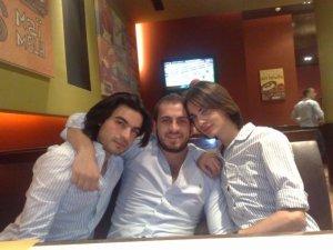 picture of Nazem Ezzeddine with Zaher Zorgatti and a fan