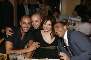 Michel Fadel, Wadi Abi Raed and Hilda Khalifeh at the Star Academy 6 After Party dinner on Friday 13th 2009