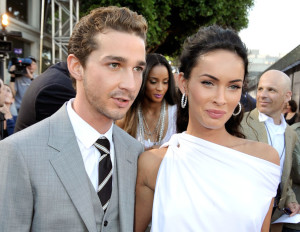 Megan Fox and Shia LaBeouf at the Premiere of Transformers Revenge Of The Fallen 2009 Movie held at Mann Village Theatre on June 22nd 2009 in Los Angeles California