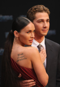 Megan Fox and Shia LaBeouf at the German premiere of Transformers Revenge Of The Fallen at the Sony Center CineStar on June 14th  2009 in Berlin Germany 3