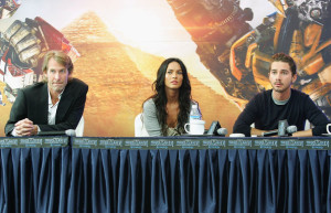 Shia LaBeouf and Megan Fox at the movie Transformers Revenge of the Fallen press conference at Kring on June 10th 2009 in Seoul  South Korea 1