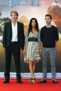Shia LaBeouf and Megan Fox at the movie Transformers Revenge of the Fallen press conference at Kring on June 10th 2009 in Seoul  South Korea 2