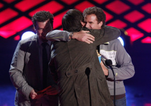 Jim Carrey accepts the Best Comedic Performance award onstage during at the 18th Annual MTV Movie Awards on May 31st 2009 in California 2