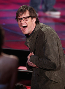 Jim Carrey accepts the Best Comedic Performance award onstage during at the 18th Annual MTV Movie Awards on May 31st 2009 in California 5