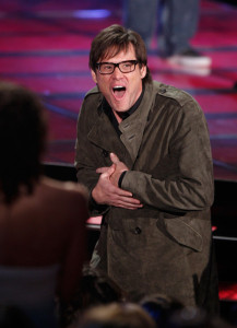 Jim Carrey accepts the Best Comedic Performance award onstage during at the 18th Annual MTV Movie Awards on May 31st 2009 in California 1