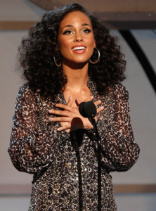 Alicia Keys gets the the Humanitarian Award onstage during the 2009 BET Awards held at the Shrine Auditorium on June 28th 2009 in Los Angeles 4