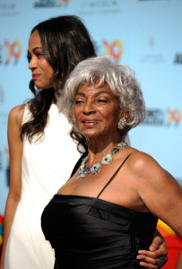 Zoe Saldana and Nichelle Nichols arrive at the 2009 BET Awards held at the Shrine Auditorium on June 28th 2009 in Los Angeles 2