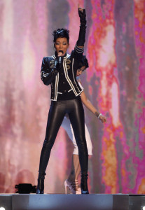 Monica performs onstage during the 2009 BET Awards held at the Shrine Auditorium on June 28th 2009 in Los Angeles 2