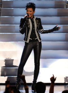Monica performs onstage during the 2009 BET Awards held at the Shrine Auditorium on June 28th 2009 in Los Angeles 1