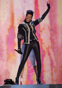 Monica performs onstage during the 2009 BET Awards held at the Shrine Auditorium on June 28th 2009 in Los Angeles 3
