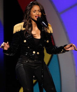 Ciara performs onstage during the 2009 BET Awards held at the Shrine Auditorium on June 28th 2009 in Los Angeles 1