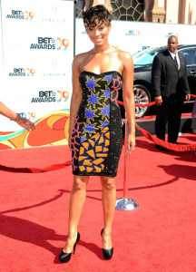 Keri Hilson arrives at the 2009 BET Awards held at the Shrine Auditorium on June 28th 2009 in Los Angeles 2