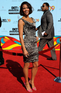 Paula Patton arrives at the 2009 BET Awards held at the Shrine Auditorium on June 28th 2009 in Los Angeles 1