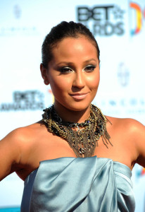 Adrienne Bailon arrives at the 2009 BET Awards held at the Shrine Auditorium on June 28th 2009 in Los Angeles 3