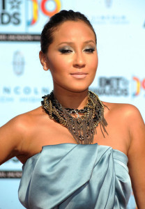 Adrienne Bailon arrives at the 2009 BET Awards held at the Shrine Auditorium on June 28th 2009 in Los Angeles 1