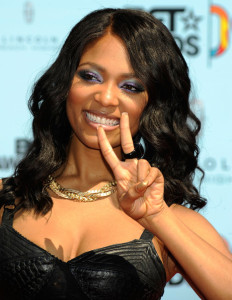 Teairra Mari arrives at the 2009 BET Awards held at the Shrine Auditorium on June 28th 2009 in Los Angeles