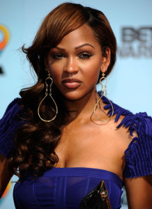 Meagan Good arrives at the 2009 BET Awards held at the Shrine Auditorium on June 28th 2009 in Los Angeles